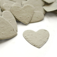 Heart Shaped Plantable Confetti - Dove Grey