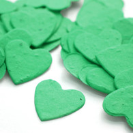 Heart Shaped Plantable Confetti - Emerald Green