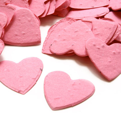 Heart Shaped Plantable Confetti - Hot Pink