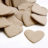 Heart Shaped Plantable Confetti - Latte Brown
