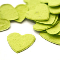 Heart Shaped Plantable Confetti - Lime Green