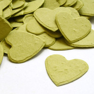 Heart Shaped Plantable Confetti - Olive Green