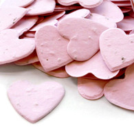 Heart Shaped Plantable Confetti - Pink