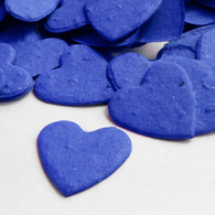 Heart Shaped Plantable Confetti in Royal Blue