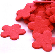 Flower Shaped Plantable Confetti in Bright Red