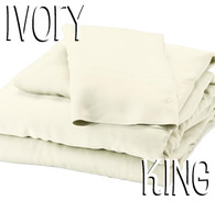 King Size Bamboo Sheet Set in Ivory