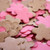 Hot Pink & Brown Flower Shaped Plantable Seeded Paper Confetti Set