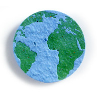 """Earth Eco-Friendly Plantable Seed Paper Shape (2.125"""" Size)"""