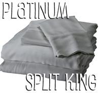 Split King Bamboo Sheet Set in Platinum
