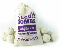 9 Wildflower Seed Bombs in Muslin Bag