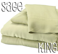 King Size Bamboo Sheet Set in Sage Green