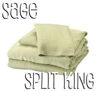 split king bamboo sheet set in sage green