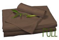 Full Bamboo Sheet Set in Mocha, Eco Friendly Hypoallergenic