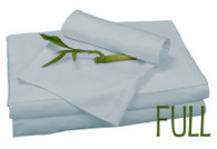 Full Bamboo Sheet Set in Sky Blue, Eco Friendly Hypoallergenic