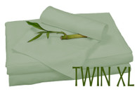 TWIN XL BAMBOO SHEET SET IN Sage Green, ECO FRIENDLY HYPOALLERGENIC