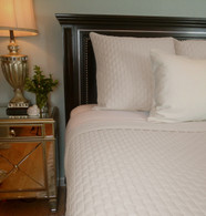 White Bamboo Quilted Coverlet - Queen or King