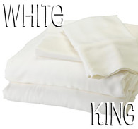King Size Bamboo Sheet Set in White