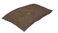 Mocha Brown 100% Bamboo Pillowcase Set Eco Friendly Hypoallergenic