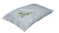Sky Blue 100% Bamboo Pillowcase Set Eco Friendly Hypoallergenic
