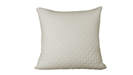 Ivory 100% Bamboo Quilted Euro Sham with 100% Poly Fill