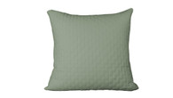 Sage Green 100% Bamboo Quilted Euro Sham with 100% Poly Fill