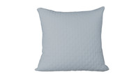 Sky Blue 100% Bamboo Quilted Euro Sham with 100% Poly Fill
