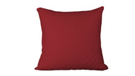 Cayenne Red 100% Bamboo Quilted Euro Sham with 100% Poly Fill