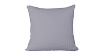 Platinum Blue 100% Bamboo Quilted Euro Sham with 100% Poly Fill