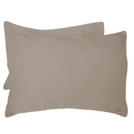 Champagne Brown 100% Bamboo Standard Shams - Hypoallergenic, Eco Friendly - Set of 2