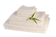 White Bamboo Towels 8 Piece Set
