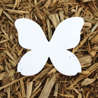 "Butterfly Plantable Seeded Paper Shape - 3.25"" x 4"" Size, White"
