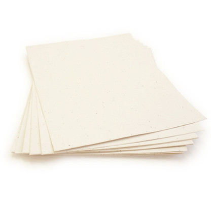 "Cream Plantable Wildflower Seed Recycled Paper Sheets - 8.5"" x 11"""
