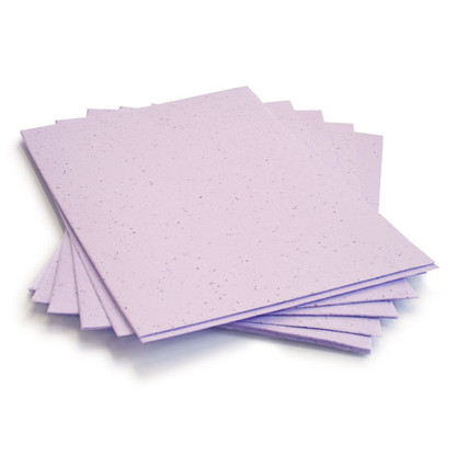 "Lavender Plantable Wildflower Seed Recycled Paper Sheets - 8.5"" x 11"""