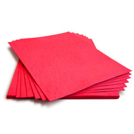 "Bright Red Plantable Wildflower Seed Recycled Paper Sheets - 8.5"" x 11"""