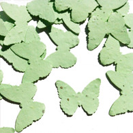Green Butterfly Shaped Plantable Wildflower Seed Recycled Paper Wedding Confetti