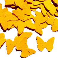 Marigold Yellow Butterfly Shaped Plantable Wildflower Seed Recycled Paper Wedding Confetti