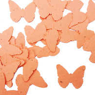 Coral Butterfly Shaped Plantable Wildflower Seed Recycled Paper Wedding Confetti