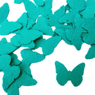 Teal Butterfly Shaped Plantable Wildflower Seed Recycled Paper Wedding Confetti