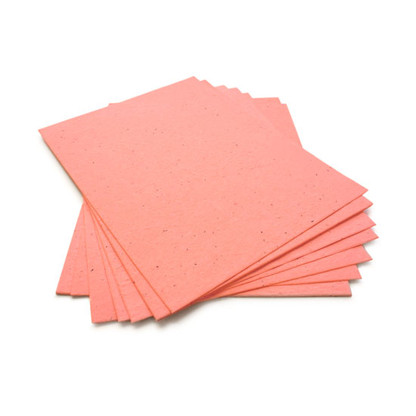 """Coral Plantable Wildflower Seed Seeded Paper Sheets - 8.5"""" x 11"""""""
