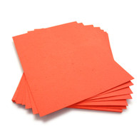 "Tangerine Plantable Wildflower Seed Seeded Paper Sheets - 8.5"" x 11"""