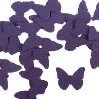 Purple Butterfly Shaped Plantable Wildflower Seed Recycled Paper Wedding Confetti