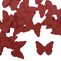 Brick Red Butterfly Shaped Plantable Wildflower Seed Recycled Paper Wedding Confetti