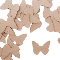 Latte Brown Butterfly Shaped Plantable Wildflower Seed Recycled Paper Wedding Confetti