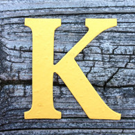 "Letter K Monogram Plantable Recycled Seeded Paper Shape - 2.5"" Tall"