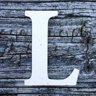 """Letter L Monogram Plantable Recycled Seeded Paper Shape - 2.5"""" Tall"""