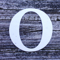 """Letter O Monogram Plantable Recycled Seeded Paper Shape - 2.5"""" Tall"""