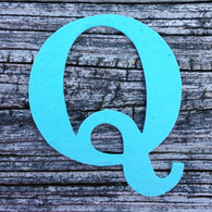 "Letter Q Monogram Plantable Recycled Seeded Paper Shape - 2.5"" Tall"