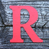 "Letter R Monogram Plantable Recycled Seeded Paper Shape - 2.5"" Tall"