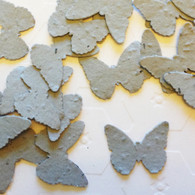 Dove Grey Butterfly Shaped Plantable Wildflower Seed Recycled Paper Wedding Confetti