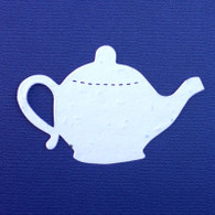 "Teapot 3"" x 2"" Plantable Wildflower Seeded Paper Favor Shape - Brewing, Shower"